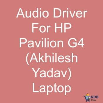 Audio-Driver-For-HP-Pavilion-G4-Akhilesh-Yadav-Laptop