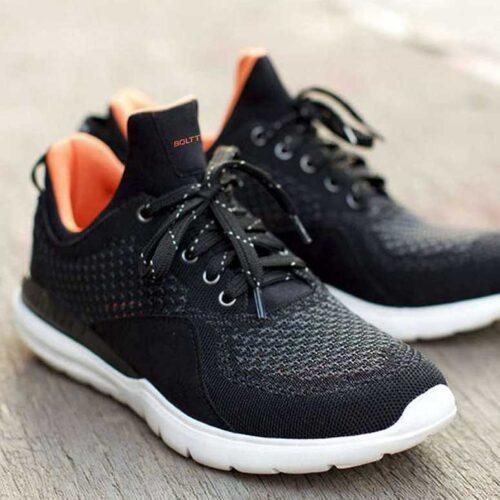 Boltt X Smart Fit Running Shoes Black
