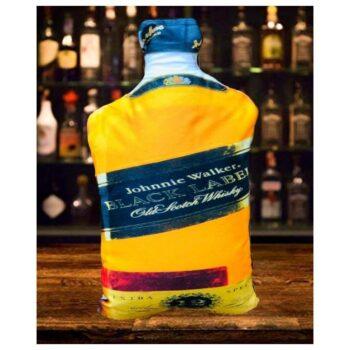 Johnnie Walker Cushion Whisky Bottle Shaped Cushion High Quality Velvet Print (22 x 12)