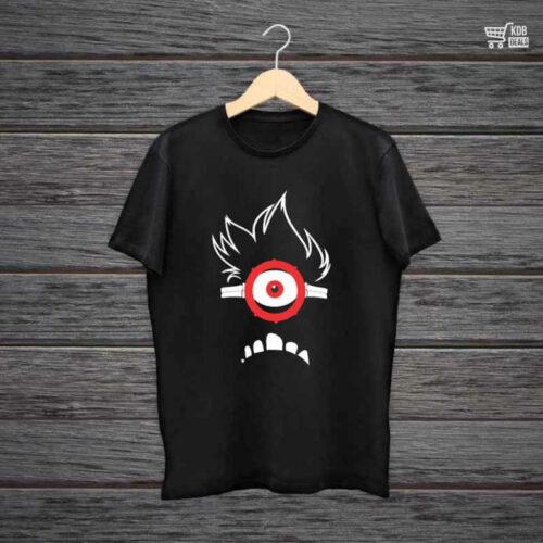 KDB Printed Black Cotton T shirt I am a Minion Eye.jpg