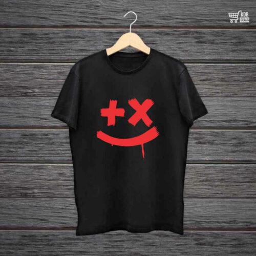 KDB Printed Black Cotton T shirt Martin.jpg