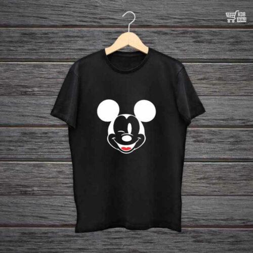 KDB Printed Black Cotton T shirt Micky.jpg