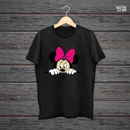 KDB Printed Black Cotton T shirt Minnie.jpg