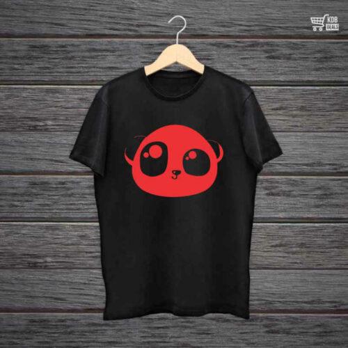 KDB Printed Black Cotton T shirt Panda.jpg