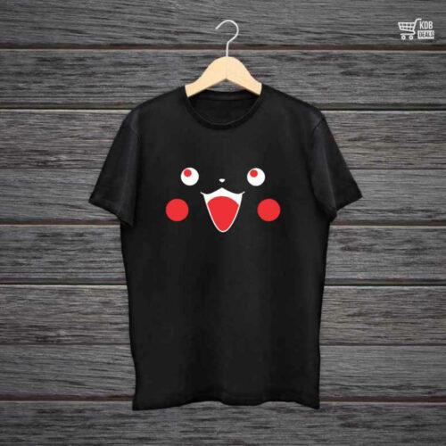 KDB Printed Black Cotton T shirt Pika Pi.jpg
