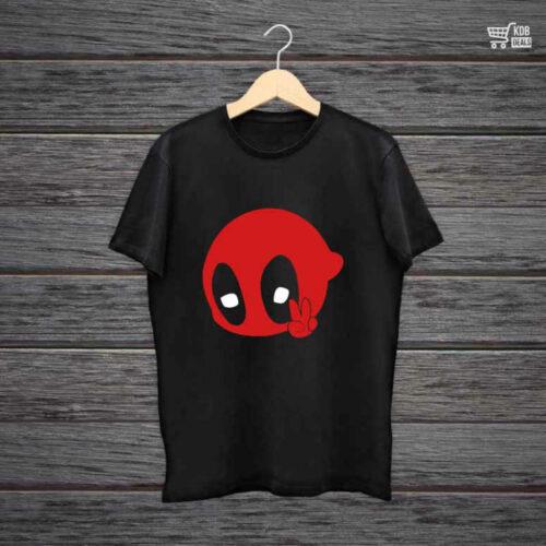 KDB Printed Black Cotton T shirt Pool Peace.jpg