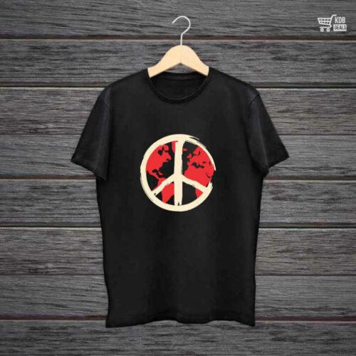 KDB Printed Black Cotton T shirt Shield.jpg