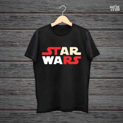 KDB Printed Black Cotton T shirt Star Wars.jpg