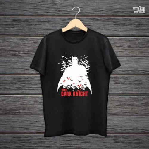 KDB Printed Black Cotton T shirt The Dark Knight.jpg