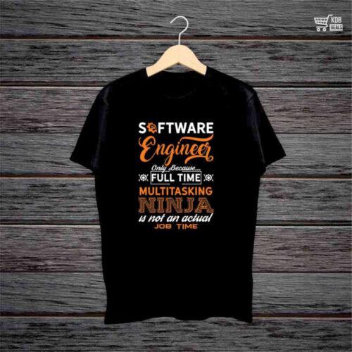 KDB Printed Software Engineer Black Cotton T shirt.jpg