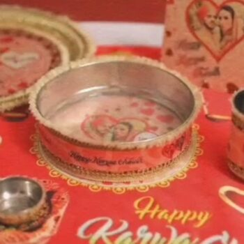 Karva Special Combo Thali Personalized Set of 6 Pcs