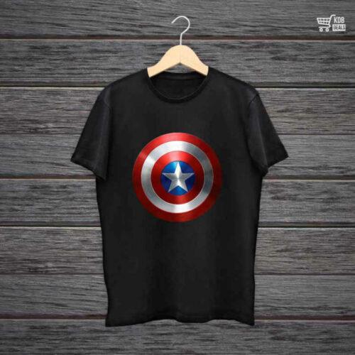 Man Printed Black Cotton T shirt Avengers.jpg