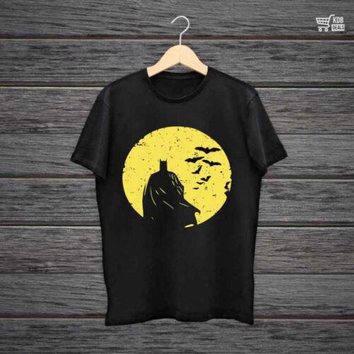 Man Printed Black Cotton T shirt Batman Begins.jpg