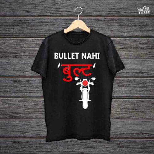 Man Printed Black Cotton T shirt Bullet.jpg