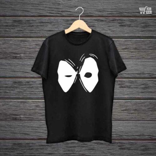 Man Printed Black Cotton T shirt Deadpool.jpg