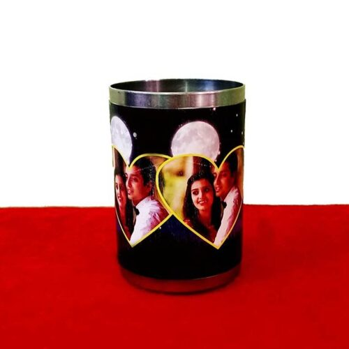 Personalized Karva Chauth Glass