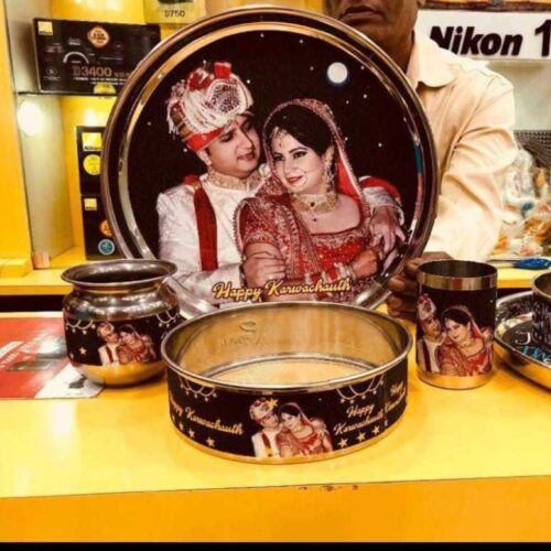 Personalized Karva Chauth Thali Set of 4