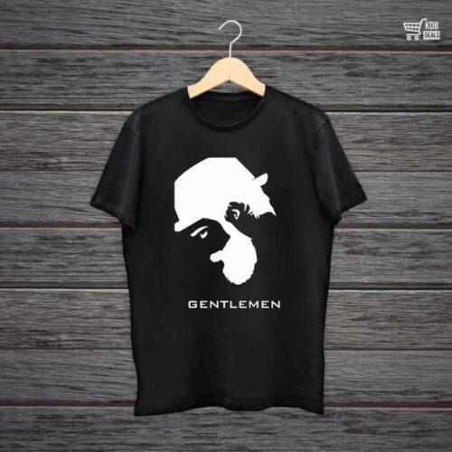 Printed Black Cotton T shirt Gentlemen.jpg