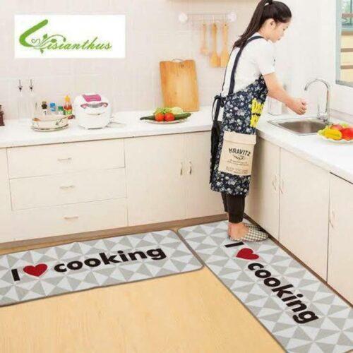 3D Printed Carpet Rug in Kitchen Home Living Office Restaurant Entrance Area Anti Slip Runner Floor Mat