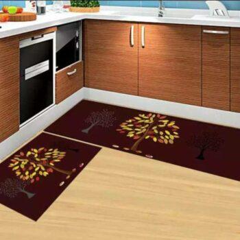 3D Tree Printed Carpet Rug in Kitchen Home Living Office Restaurant Entrance Area Anti Slip Runner Floor Mat