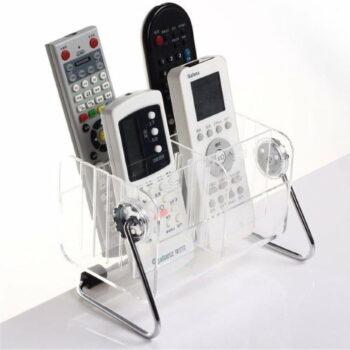 Acrylic Remote Control Stand, Convenient Media Organizer Storage Box (18x11x12 cm)