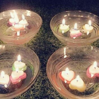 Beautiful Heart Shaped Water Floating Diyas With Superior Quality Wax (Pack of 12)