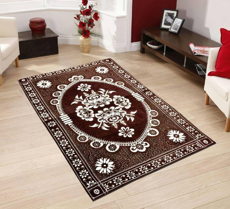 Beautifully Crafted Carpets Kashmiri Chenille Carpets 5x7 Feet with Perfect Finishing