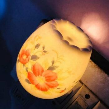 Ceramic Night Lamp Bedside Lamp Aroma Lamp Energy Saving Lamp (12x24 cm) Remarkable Home Decor Item