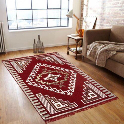 Chenille Velvet Touch Designer Ethnic Carpet (5x7 Feet) - Excellent Quality Brown