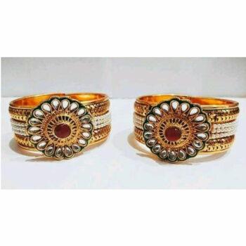 Classic Brass Embellished Bangle