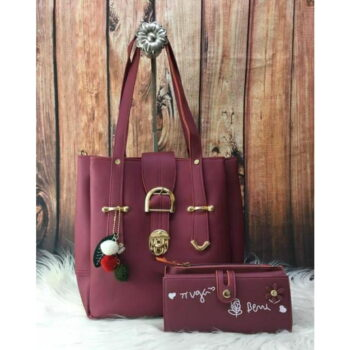 Classy Ladies PU Leather Handbag and Wallet Combo