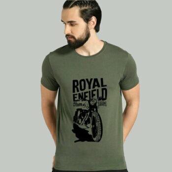 Comfy Fabulous Men Cotton T-Shirts Royal Enfield