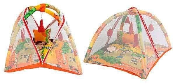 Deluxe Baby Play Gym with Mosquito Net and 5 Hanging Toys Adorable Baby Bedding Set Chhota Bheem 2