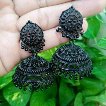 Black Oxidised Earring Jhumki