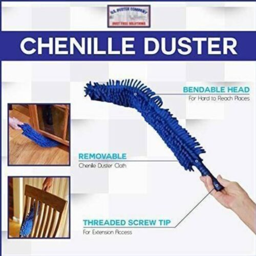 Flexible Microfiber Cleaning Duster with Extendable Rod for Home Car Fan Dusting 1 1