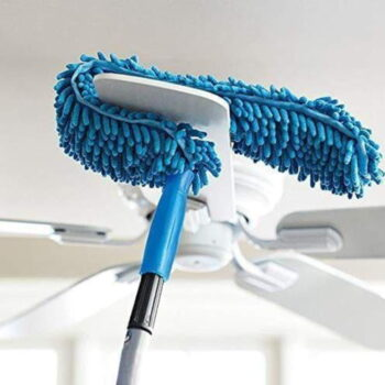 Flexible Microfiber Cleaning Duster with Extendable Rod for Home Car Fan Dusting (1.2m)
