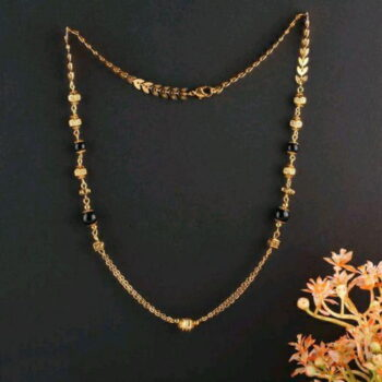 Gold Plated Mangalsutras (18 Inch Length) Women's Pride Daily wear Mangalsutra