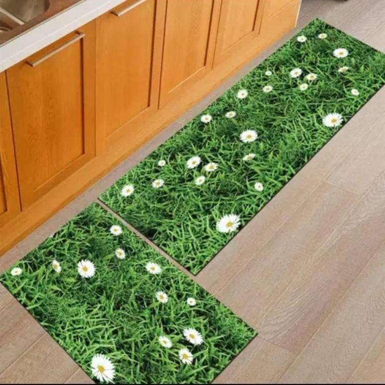 Home Decor Look Soft Anti Skid Washable Multi Purpose Mat Runner Set 1