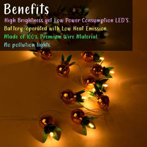 Kalash Decorative Stunning LED Lights Items for Bedroom, Home, Hall Decorations (8 Feet) Pack of 4