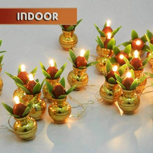 Kalash Decorative Stunning LED Lights Items for Bedroom Home Hall Decorations 8 Feet Pack of 4 4