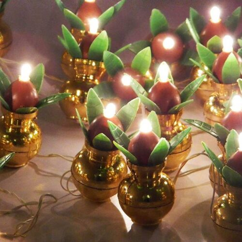 Kalash Decorative Stunning LED Lights Items for Bedroom Home Hall Decorations 8 Feet Pack of 4