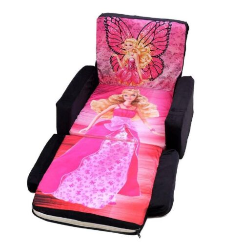 Kids Sofa Cum Bed with Foam Filling Soft Toy Chair for Kids Barbie 1