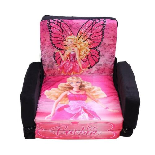 Kids Sofa Cum Bed with Foam Filling Soft Toy Chair for Kids Barbie
