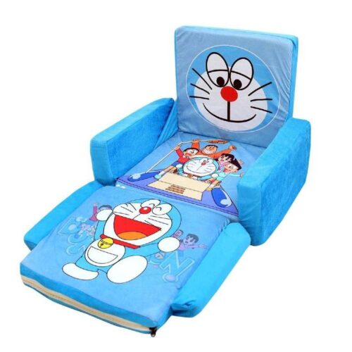 Kids Sofa Cum Bed with Foam Filling Soft Toy Chair for Kids Doraemon 3