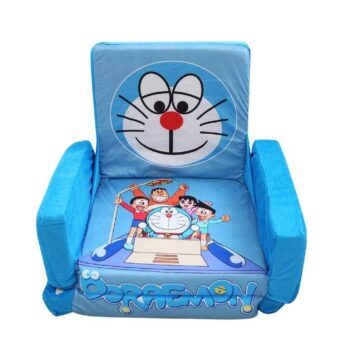 Kids Sofa Cum Bed with Foam Filling - Soft Toy Chair for Kids Doraemon