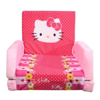 Kids Sofa Cum Bed with Foam Filling - Soft Toy Chair for Kids Kitty