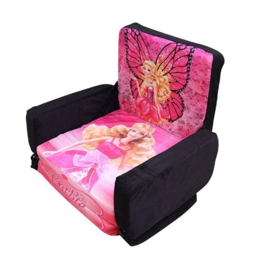 Kids Sofa Cum Bed with Foam Filling - Soft Toy Chair for Kids Princess