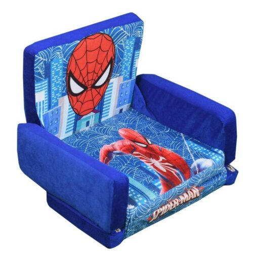 Kids Sofa Cum Bed with Foam Filling Soft Toy Chair for Kids Spiderman 1