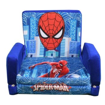 Kids Sofa Cum Bed with Foam Filling - Soft Toy Chair for Kids Spiderman