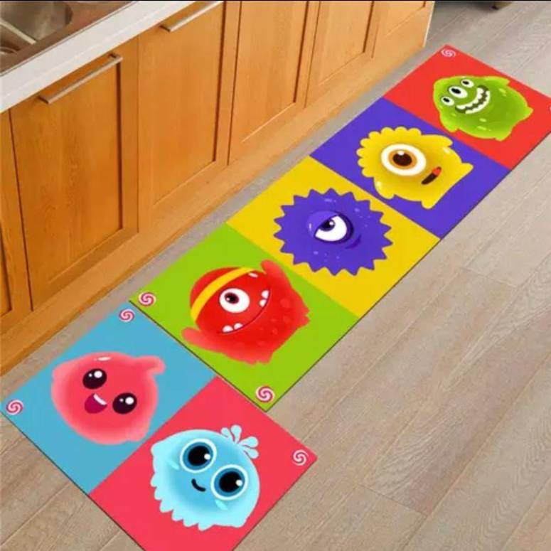 Kitchen Floor Mats Runner with Anti Skid Backing, Set of 2
